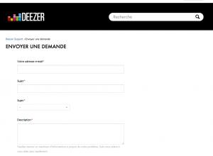 contact deezer