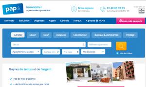 Aperçu du site officiel PAP.fr