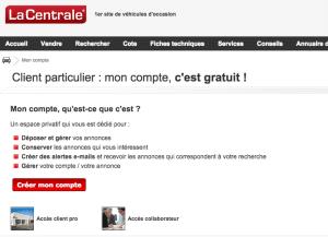 Se connecter à l'espace client la-centrale.fr