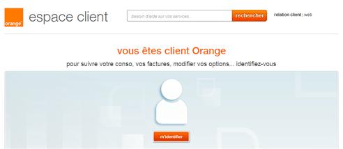 Espace client Orange