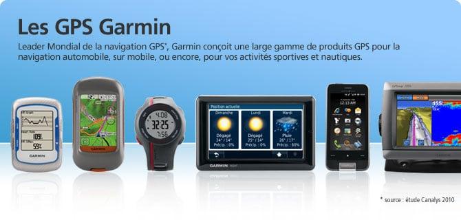 Sélection de produits Garmin