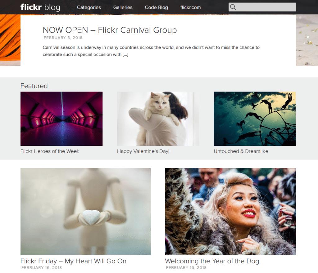 blog flickr