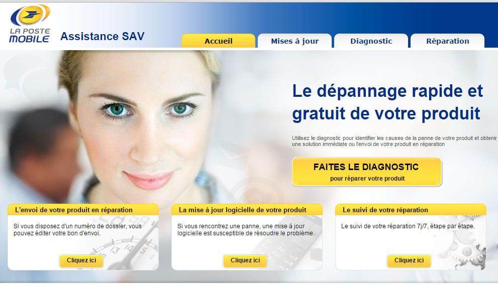 SAV de La Poste Mobile