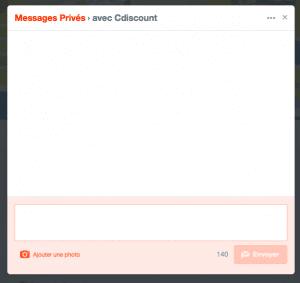 message privé twitter