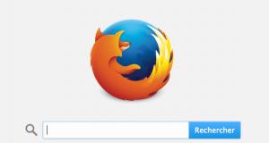 Moteur de recherche Mozilla Firefox