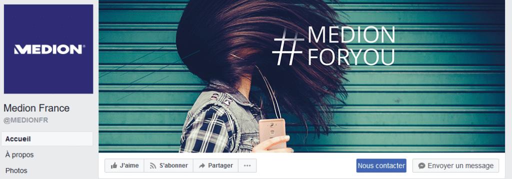 page facebook medion