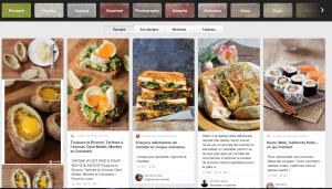 Site Pinterest (Rubrique Food)