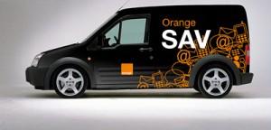 Voiture de dépannage SAV Orange