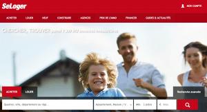 Capture d'écran du site Seloger.com