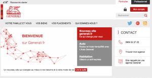 Aperçu du site internet Generali