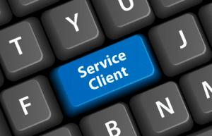 service client mail