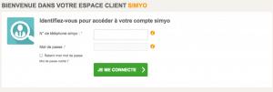 Espace client Simyo