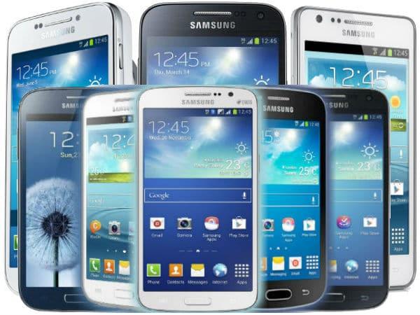 Gamme de smartphones Samusung