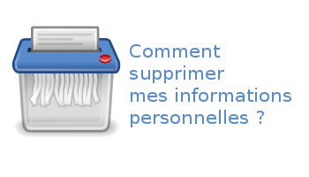 Suppression d'informations personnelles