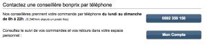 Informations de contact Bon Prix