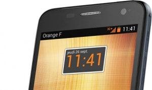 Téléphone mobile connecté à l'opérateur Orange