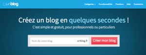 Capture du site officiel Unblog.fr